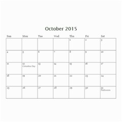 Kids By Kids   Wall Calendar 8 5  X 6    Ehdrm6013an6   Www Artscow Com Oct 2015