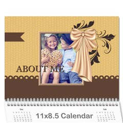 Kids By Kids   Wall Calendar 11  X 8 5  (12 Months)   Xtltici9nh7x   Www Artscow Com Cover