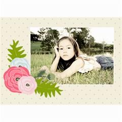 Wall Calendar 8 5 X 6: Ranunculus Flowers 2 By Jennyl   Wall Calendar 8 5  X 6    6d3tmwqe1deo   Www Artscow Com Month