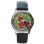 Brussels griffon Round Metal Watch