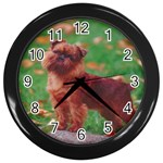 Brussels griffon Wall Clock (Black)