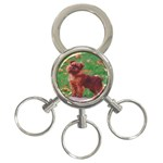 Brussels griffon 3-Ring Key Chain
