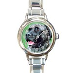 bull mastiff Round Italian Charm Watch