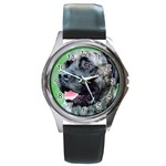 bull mastiff Round Metal Watch