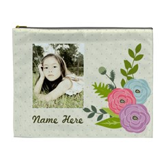 Cosmetic Bag (xl): Ranunculus Flowers By Jennyl   Cosmetic Bag (xl)   Oc1z9zy7y5wk   Www Artscow Com Front