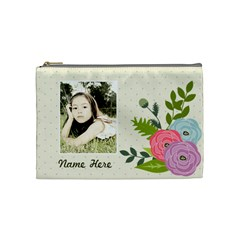 Cosmetic Bag (m): Ranunculus Flowers By Jennyl   Cosmetic Bag (medium)   O8gklc856xqd   Www Artscow Com Front