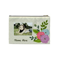 Cosmetic Bag (m): Ranunculus Flowers By Jennyl   Cosmetic Bag (medium)   O8gklc856xqd   Www Artscow Com Back