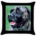 bull mastiff Throw Pillow Case (Black)