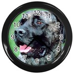 bull mastiff Wall Clock (Black)
