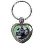 bull mastiff Key Chain (Heart)
