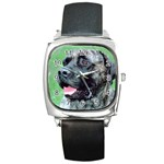 bull mastiff Square Metal Watch