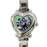 bull mastiff Heart Italian Charm Watch