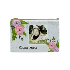 Cosmetic Bag (m): Ranunculus Flowers2 By Jennyl   Cosmetic Bag (medium)   Zylgwuro6pu3   Www Artscow Com Front