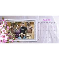 Pretty Floral Desktop Calendar By Deborah   Desktop Calendar 11  X 5    Yfs1o0whtwm8   Www Artscow Com Mar 2018