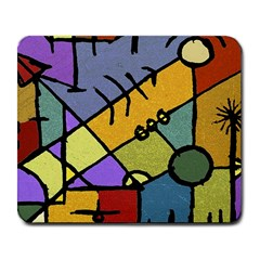 Multicolored Tribal Pattern Print Large Mouse Pad (rectangle) by dflcprints