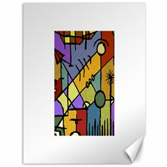Multicolored Tribal Pattern Print Canvas 36  X 48  (unframed) by dflcprints
