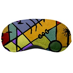 Multicolored Tribal Pattern Print Sleeping Mask by dflcprints