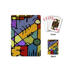 Multicolored Tribal Pattern Print Playing Cards (mini) by dflcprints