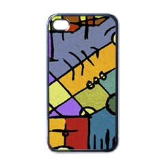 Multicolored Tribal Pattern Print Apple Iphone 4 Case (black) by dflcprints
