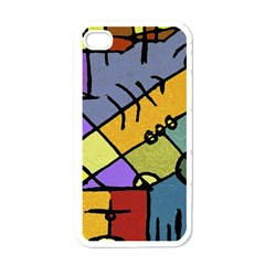 Multicolored Tribal Pattern Print Apple Iphone 4 Case (white) by dflcprints