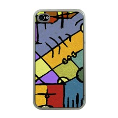 Multicolored Tribal Pattern Print Apple Iphone 4 Case (clear) by dflcprints