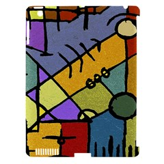 Multicolored Tribal Pattern Print Apple Ipad 3/4 Hardshell Case (compatible With Smart Cover) by dflcprints