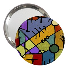 Multicolored Tribal Pattern Print 3  Handbag Mirror by dflcprints