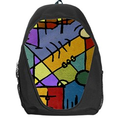 Multicolored Tribal Pattern Print Backpack Bag by dflcprints