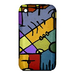 Multicolored Tribal Pattern Print Apple Iphone 3g/3gs Hardshell Case (pc+silicone) by dflcprints