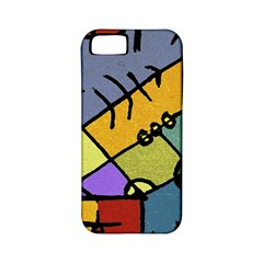 Multicolored Tribal Pattern Print Apple Iphone 5 Classic Hardshell Case (pc+silicone) by dflcprints
