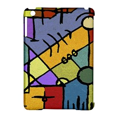 Multicolored Tribal Pattern Print Apple Ipad Mini Hardshell Case (compatible With Smart Cover)