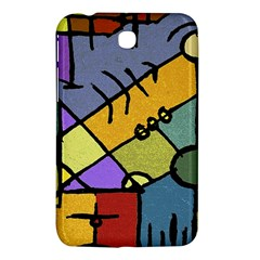 Multicolored Tribal Pattern Print Samsung Galaxy Tab 3 (7 ) P3200 Hardshell Case  by dflcprints