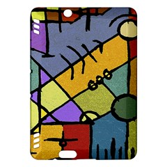 Multicolored Tribal Pattern Print Kindle Fire Hdx Hardshell Case by dflcprints