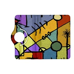 Multicolored Tribal Pattern Print Kindle Fire Hd (2013) Flip 360 Case by dflcprints