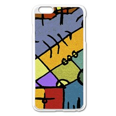 Multicolored Tribal Pattern Print Apple Iphone 6 Plus Enamel White Case by dflcprints
