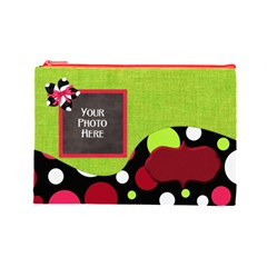 Cherry Slush Lg By Lisa Minor   Cosmetic Bag (large)   Jpykp1imul8p   Www Artscow Com Front