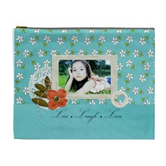 Cosmetic Bag (xl): Live Love Laugh By Jennyl   Cosmetic Bag (xl)   2s2vhzmapb92   Www Artscow Com Front