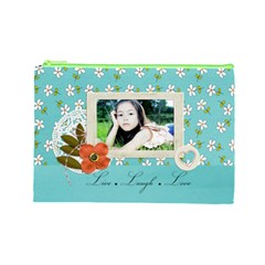 Cosmetic Bag (l): Live Love Laugh By Jennyl   Cosmetic Bag (large)   Yk4gk47lr7fw   Www Artscow Com Front