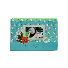Cosmetic Bag (m):  Live Love Laugh By Jennyl   Cosmetic Bag (medium)   1ldgg5o6penw   Www Artscow Com Front