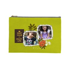 Cosmetic Bag (l): Keep Calm By Jennyl   Cosmetic Bag (large)   I6ugmkv0t4uo   Www Artscow Com Front