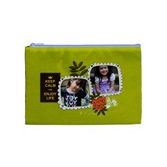 Cosmetic Bag (m):  Keep Calm By Jennyl   Cosmetic Bag (medium)   Ej3misff3bf4   Www Artscow Com Front