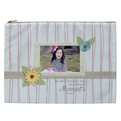 Cosmetic Bag (xxl): Moments By Jennyl   Cosmetic Bag (xxl)   N46ejuhi7hu1   Www Artscow Com Front