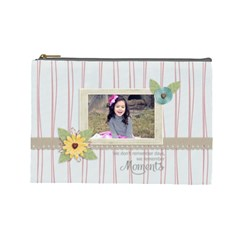 Cosmetic Bag (l): Moments By Jennyl   Cosmetic Bag (large)   Tu54d3zyek4p   Www Artscow Com Front