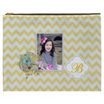 Cosmetic Bag (XXXL): Yellow Chevron