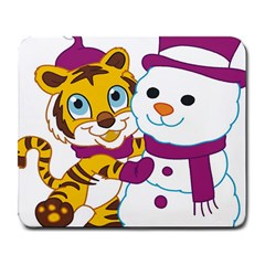 Winter Time Zoo Friends   004 Large Mouse Pad (rectangle) by Colorfulart23