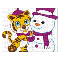 Winter Time Zoo Friends   004 Jigsaw Puzzle (rectangle) by Colorfulart23