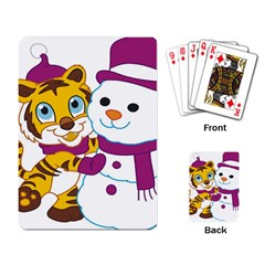 Winter Time Zoo Friends   004 Playing Cards Single Design by Colorfulart23