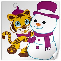 Winter Time Zoo Friends   004 Canvas 16  X 16  (unframed) by Colorfulart23