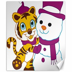 Winter Time Zoo Friends   004 Canvas 20  X 24  (unframed) by Colorfulart23