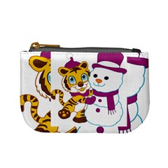 Winter Time Zoo Friends   004 Coin Change Purse by Colorfulart23